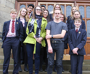 ursula and fran with BGS pupils
