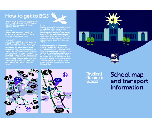 How to get to BGS: School map