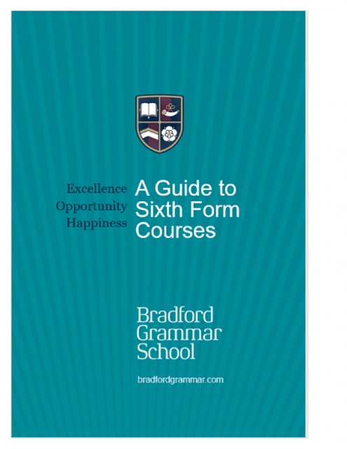 Guide to Sixth Form courses