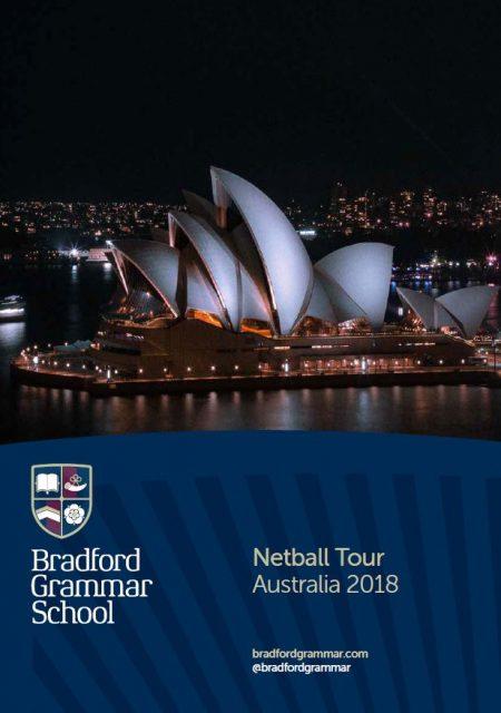 Netball tour brochure: 2018